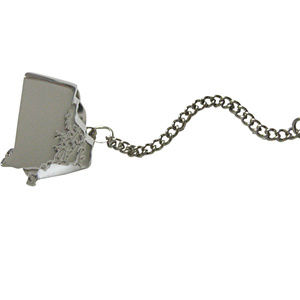Rhode Island State Map Shape Tie Tack